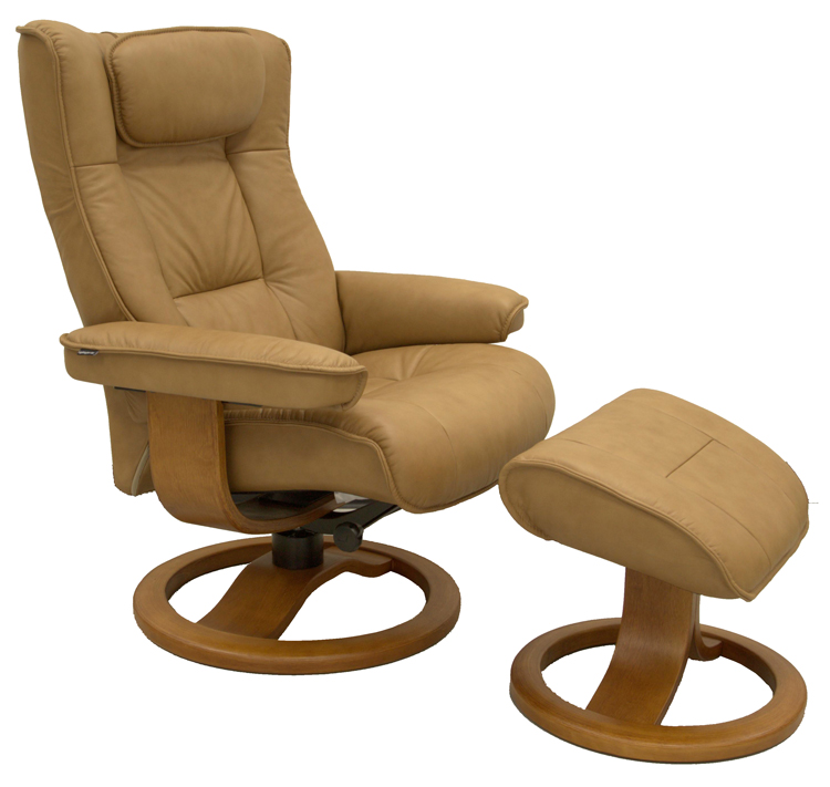 Fjords regent ergonomic recliner and ottoman (large)