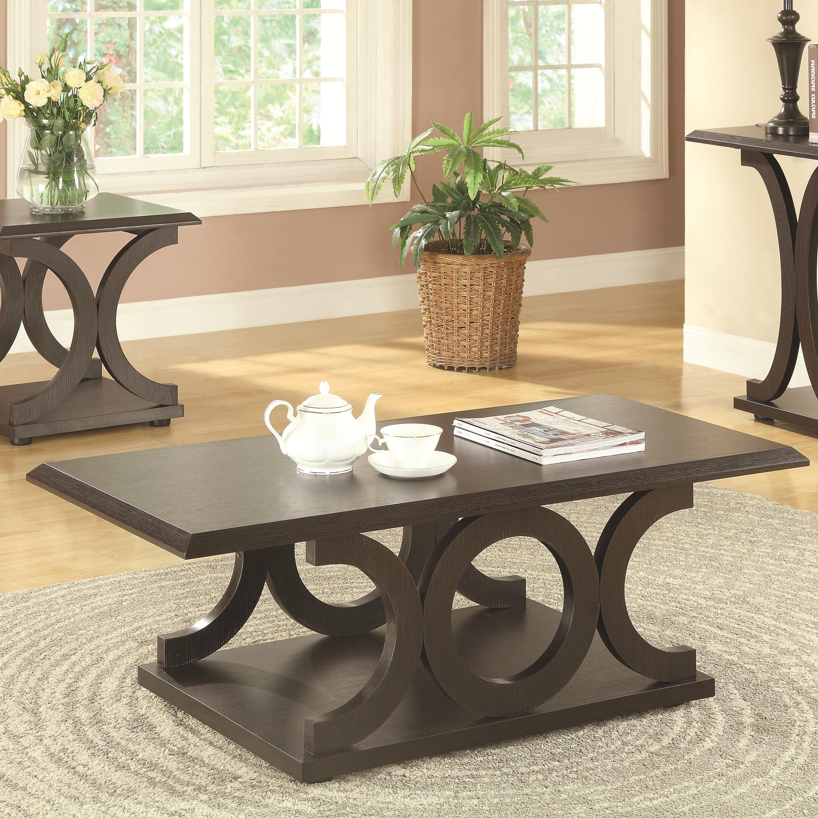 703148 c-shaped coffee table