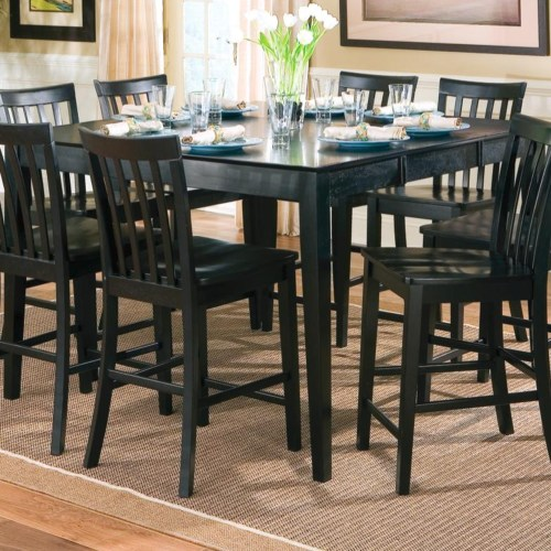 Pines counter height dining leg table with leaf set
