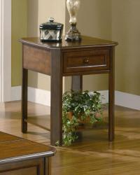 Westmoreland cherry wood end table with drawer