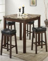 Sofie 5 piece marble look counter height dining set