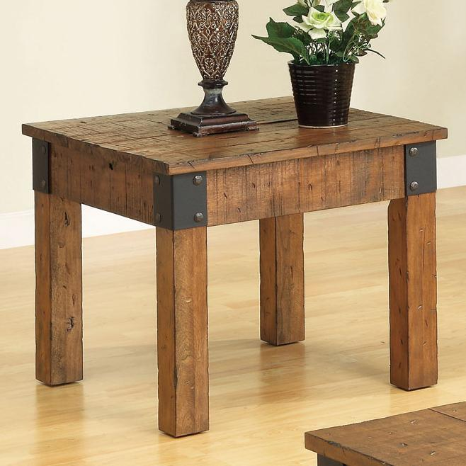 701457 accent tables distressed country wagon end table