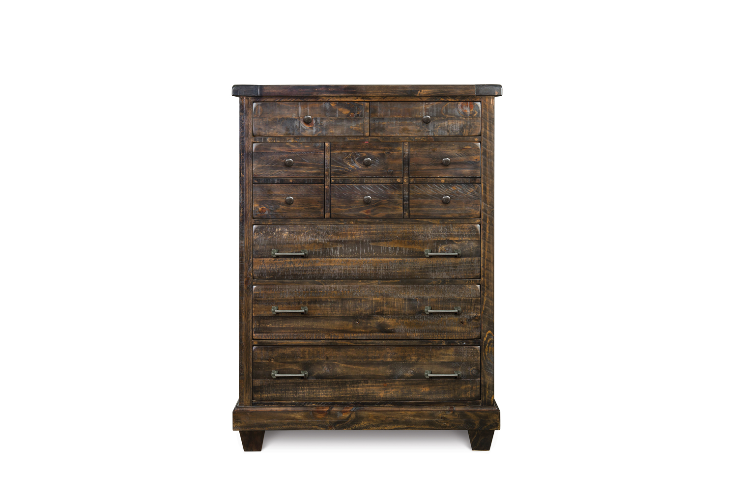 Brenley solid pine wood five drawer chest