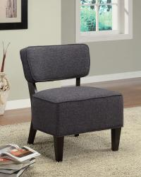 Dark brown fabric accent chair