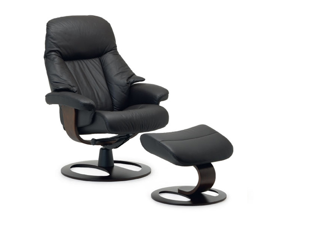 Fjords alfa ergonomic recliner and ottoman (small)