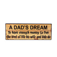 Wd. dad's dream sign