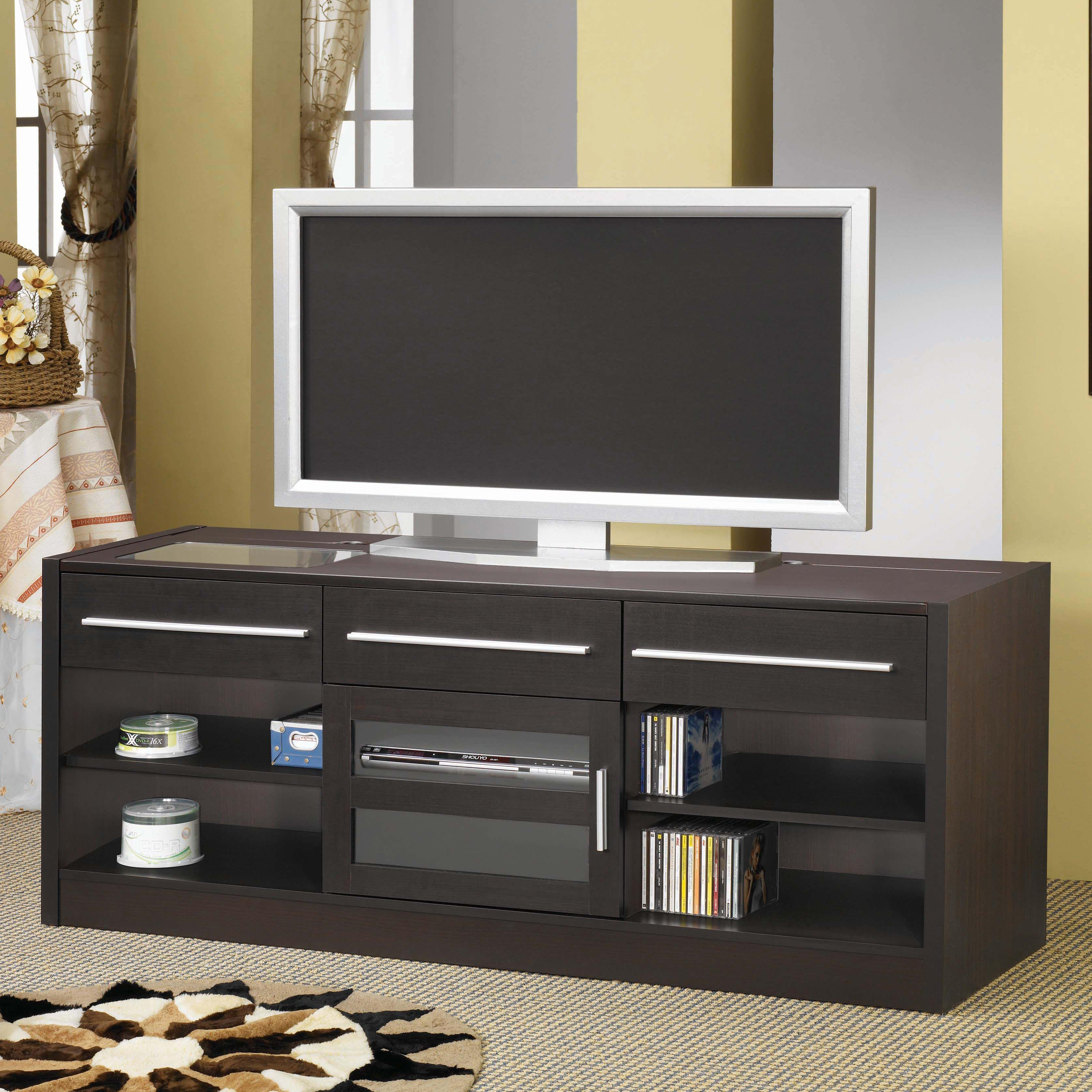 Tv stands contemporary tv console with connect-it power drawer-rta