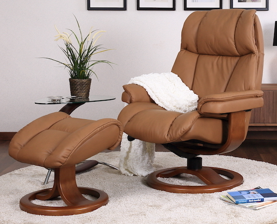 Fjords general r recliner chair small +ottoman sl 224 hassel