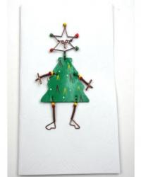 Tree shaped pin on card- kenya
