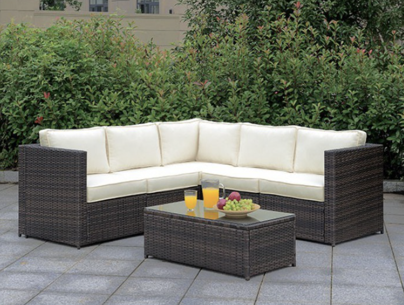 L shape sectional 5 peice outdoor set