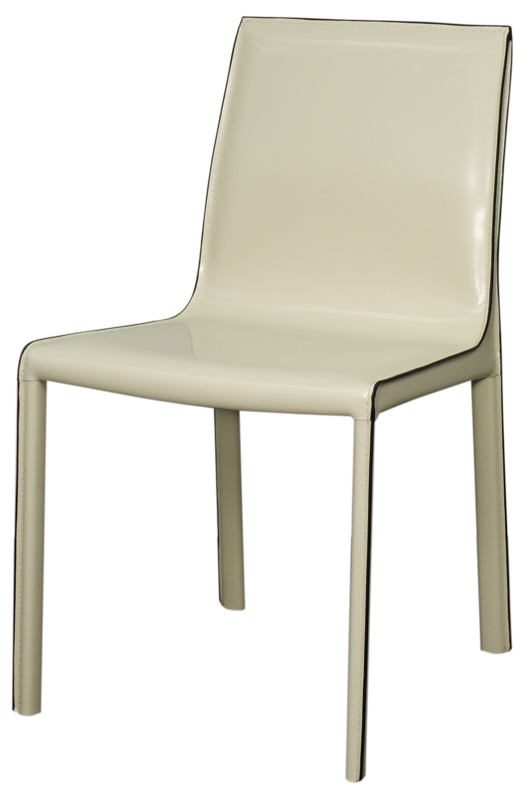 Set of 2 gervin recycled leather chair - 4 colors